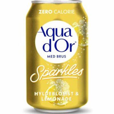 Aqua d'Or Hyldeblomst and Lemonade (bodza, citrom) 330ml