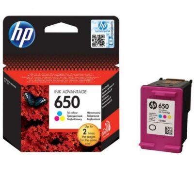 Eredeti HP Ink 650 színes tintapatron