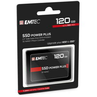 "SSD 120GB EMTEC 3D NAND Phison 2,5"" (6.3cm) SATAIII"