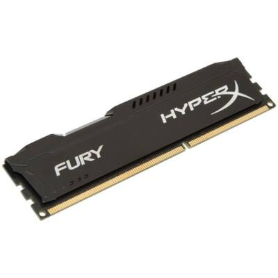 HyperX FURY 8GB DDR3 -1600 - CL10 240 - PIN UDIMM memória fekete