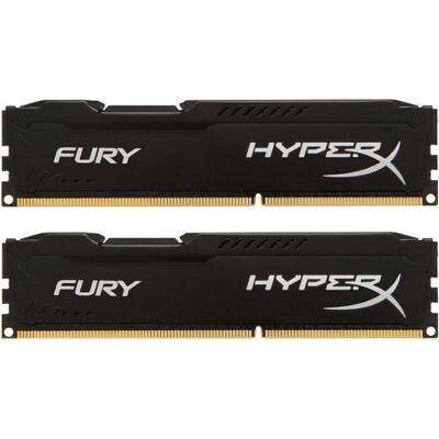 HyperX FURY 16GB DDR3 -1866 - CL11 240 - PIN UDIMM Kit 2*8GB memória fekete