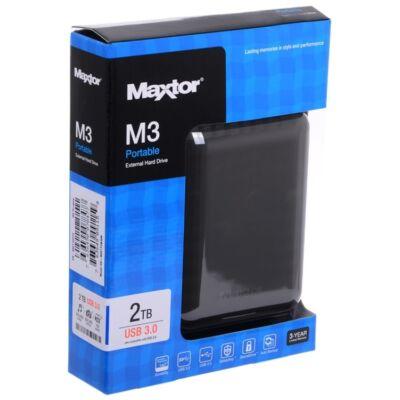 2TB Maxtor USB3.0 M3 Portable fekete külső winchester