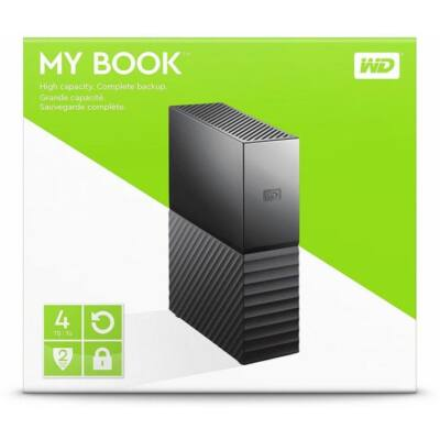 4TB WD MyBook USB3.0 fekete asztali külső hálózati winchester