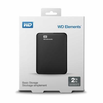 2TB WD ELEMENTS PORTABLE USB3.0 hordozható külső winchester