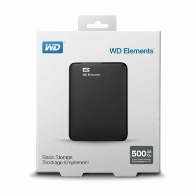 500GB WD ELEMENTS PORTABLE USB3.0 hordozható külső winchester