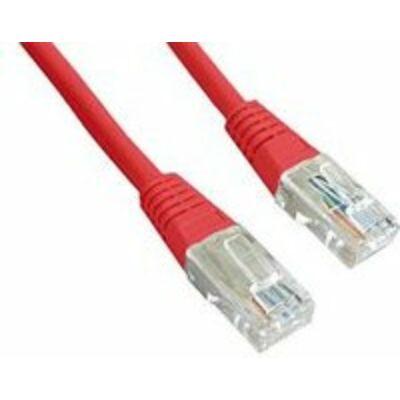 Gembird Cat5e UTP kábel, piros, 2m
