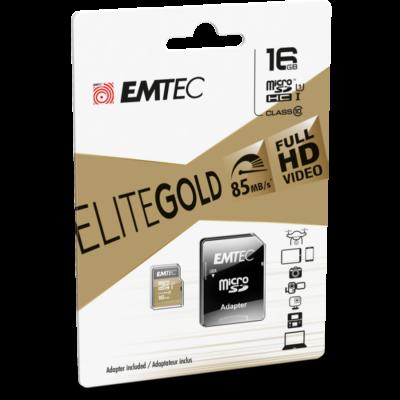 EMTEC 16GB MicroSD  kártya + adapter
