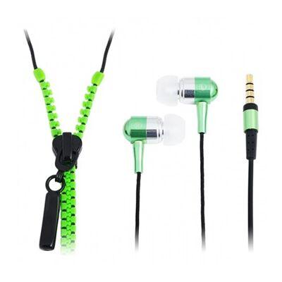 Logilink Zipper fülhallgató zöld