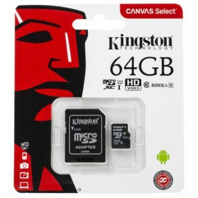 Kingston Canvas Select 64GB microSD kártya