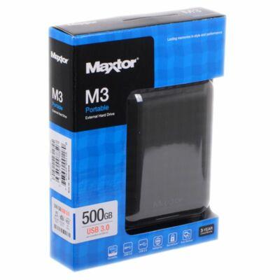 """Maxtor M3 Portable 2,5"""" 500GB USB3.0 külső merevlemez, fekete"""