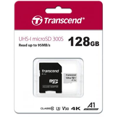 Transcend UHS-I 300S 128GB microSD kártya