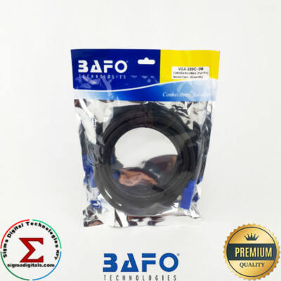 BAFO VGA Monitor kábel Apa-Apa 3m fekete