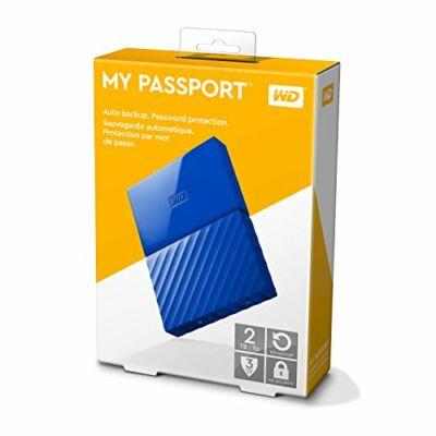 """WD My Passport 2,5"""" 2TB USB3 külső merevlemez, kék"""